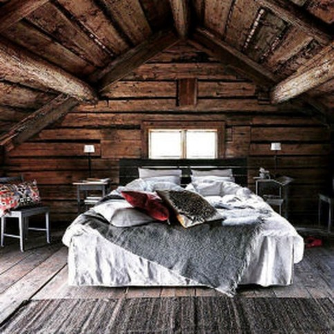 Gorgeous Log Cabin Style Home Interior Design34