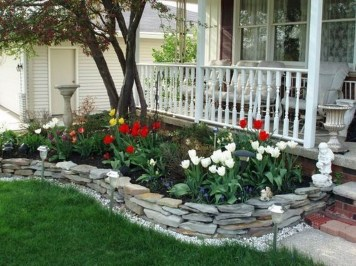Incredible Flower Bed Design Ideas For Your Small Front Landscaping26