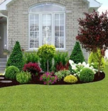 Incredible Flower Bed Design Ideas For Your Small Front Landscaping34