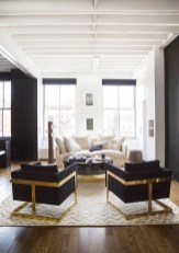 Wonderful Black White And Gold Living Room Design Ideas03