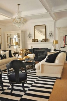 Wonderful Black White And Gold Living Room Design Ideas07
