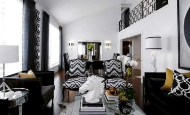 Wonderful Black White And Gold Living Room Design Ideas12