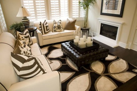 Wonderful Black White And Gold Living Room Design Ideas16