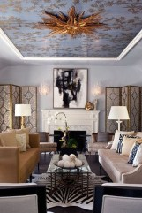 Wonderful Black White And Gold Living Room Design Ideas21