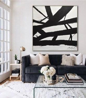 Wonderful Black White And Gold Living Room Design Ideas36