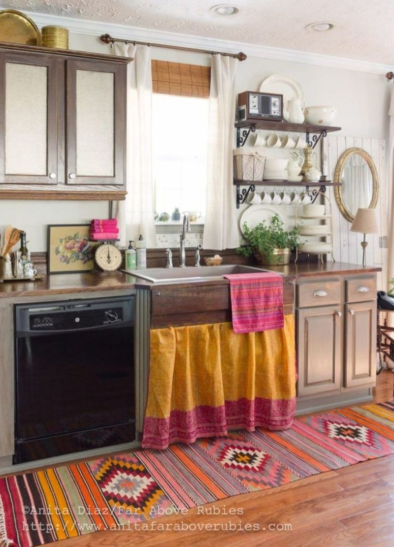 Awesome Bohemian Kitchen Design Ideas For Comfortable Cooking40