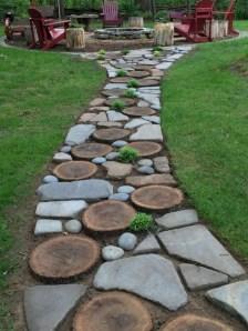 Creative Diy Garden Walkways Ideas For Stunning Home Yard13