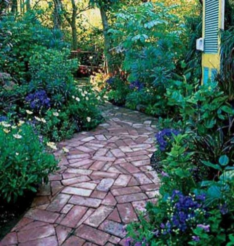 Creative Diy Garden Walkways Ideas For Stunning Home Yard25