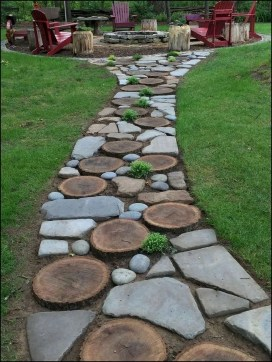 Creative Diy Garden Walkways Ideas For Stunning Home Yard41
