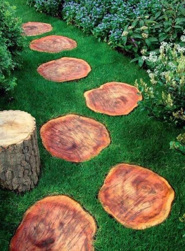 Creative Diy Garden Walkways Ideas For Stunning Home Yard47
