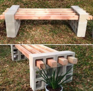 Fabulous Diy Outdoor Bench Ideas For Your Home Garden40