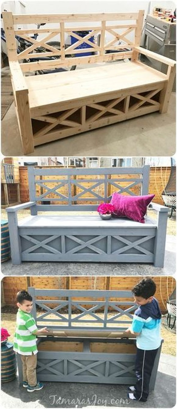 Fabulous Diy Outdoor Bench Ideas For Your Home Garden46