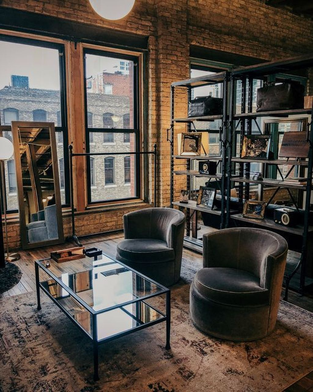 Industrial Living Room: 45 The Best Decorations Industrial Style Living Room That