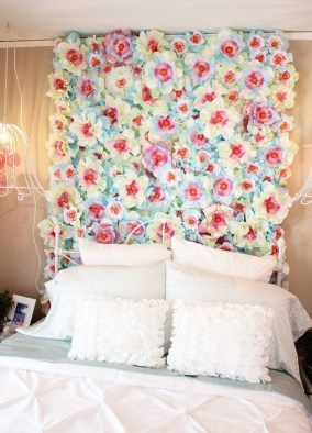 Amazing Diy Flower Wall Decoration For You Try09