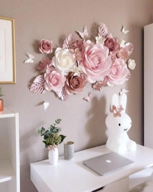 Amazing Diy Flower Wall Decoration For You Try27