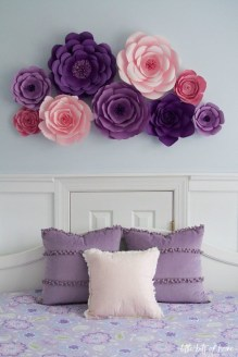 Amazing Diy Flower Wall Decoration For You Try32