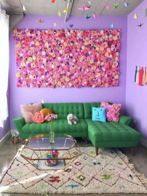 Amazing Diy Flower Wall Decoration For You Try36