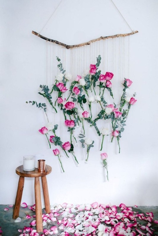 Amazing Diy Flower Wall Decoration For You Try37