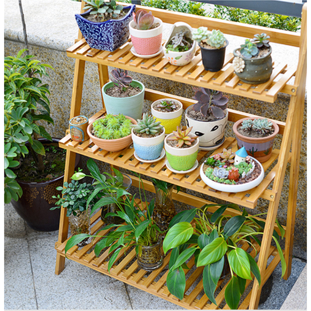 Awesome Diy Plant Shelf Design Ideas To Organize Your Garden21