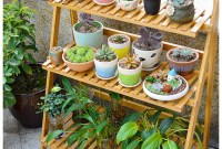 Awesome Diy Plant Shelf Design Ideas To Organize Your Garden21