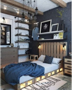 Awesome Industrial Style Bedroom Design Ideas15