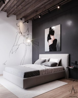 Awesome Industrial Style Bedroom Design Ideas36