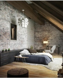 Awesome Industrial Style Bedroom Design Ideas38