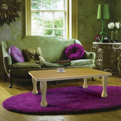 Awesome Living Room Green And Purple Interior Color Ideas07