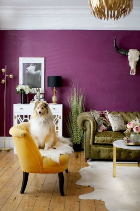 Awesome Living Room Green And Purple Interior Color Ideas08