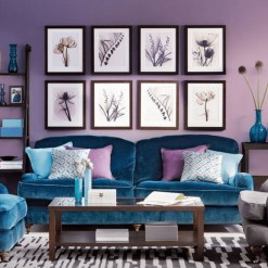 Awesome Living Room Green And Purple Interior Color Ideas12