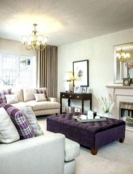 Awesome Living Room Green And Purple Interior Color Ideas16