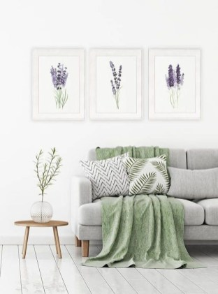 Awesome Living Room Green And Purple Interior Color Ideas26