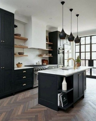 Best Monochrome Kitchen Theme Ideas For Decoration08