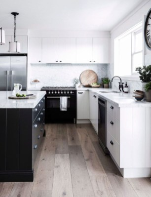 Best Monochrome Kitchen Theme Ideas For Decoration16