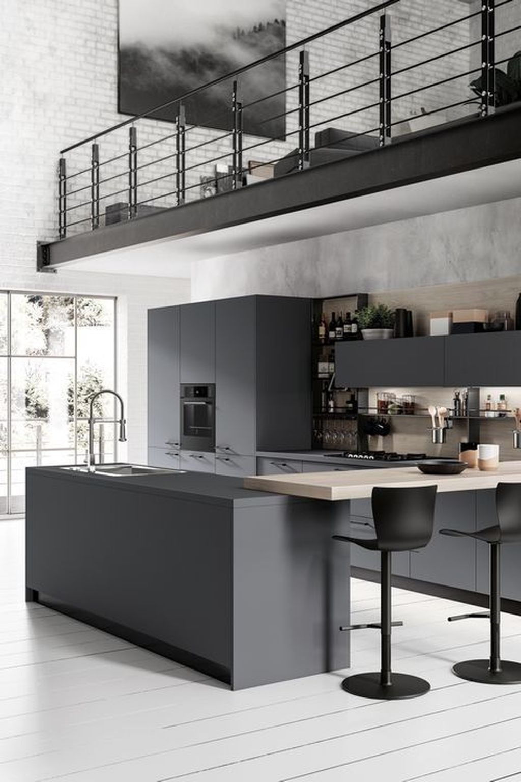 Best Monochrome Kitchen Theme Ideas For Decoration36
