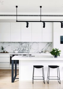 Best Monochrome Kitchen Theme Ideas For Decoration38