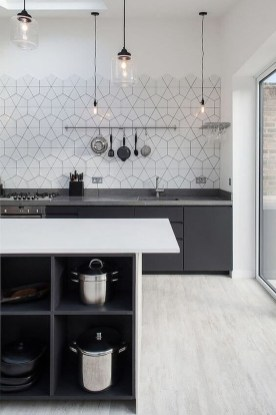 Best Monochrome Kitchen Theme Ideas For Decoration43
