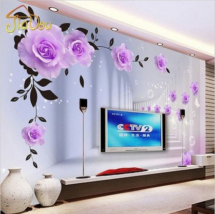 Fabulous Rose Wall Painting Design Ideas For You To Try In Home08