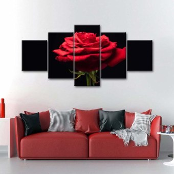 Fabulous Rose Wall Painting Design Ideas For You To Try In Home11