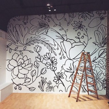 Fabulous Rose Wall Painting Design Ideas For You To Try In Home19