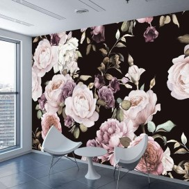 Fabulous Rose Wall Painting Design Ideas For You To Try In Home21
