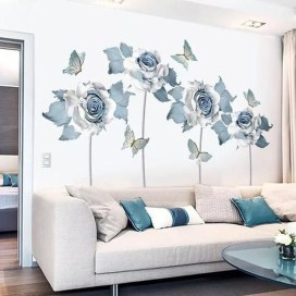 Fabulous Rose Wall Painting Design Ideas For You To Try In Home22