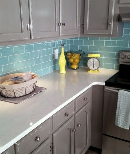 Impressive Gray And Turquoise Color Scheme Ideas For Your Kitchen04