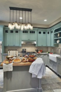 Impressive Gray And Turquoise Color Scheme Ideas For Your Kitchen11