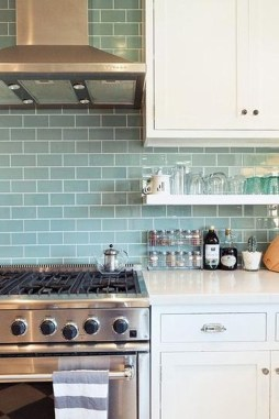 Impressive Gray And Turquoise Color Scheme Ideas For Your Kitchen24