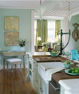 Impressive Gray And Turquoise Color Scheme Ideas For Your Kitchen28