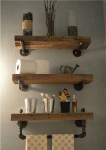 Interesting Floating Wall Shelves For Your Bathroom Style Ideas05