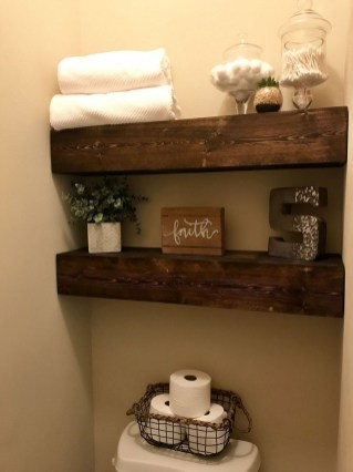 Interesting Floating Wall Shelves For Your Bathroom Style Ideas18