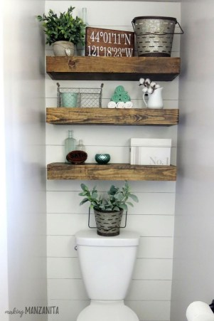 Interesting Floating Wall Shelves For Your Bathroom Style Ideas25