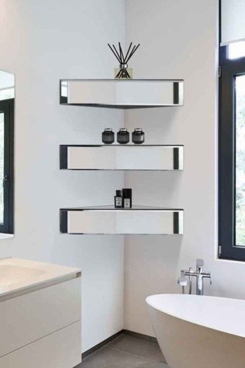 Interesting Floating Wall Shelves For Your Bathroom Style Ideas35